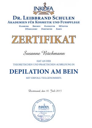 Zertifikate – Susanne Büchmann – Mobile Fusspflege – Lippetal Soest ...